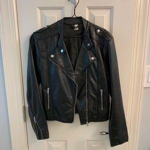 Faux leather jacket size 6